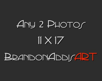 Any 2 Photos 11X17, Save With Print Sets, Kitchen Art, Home Decor
