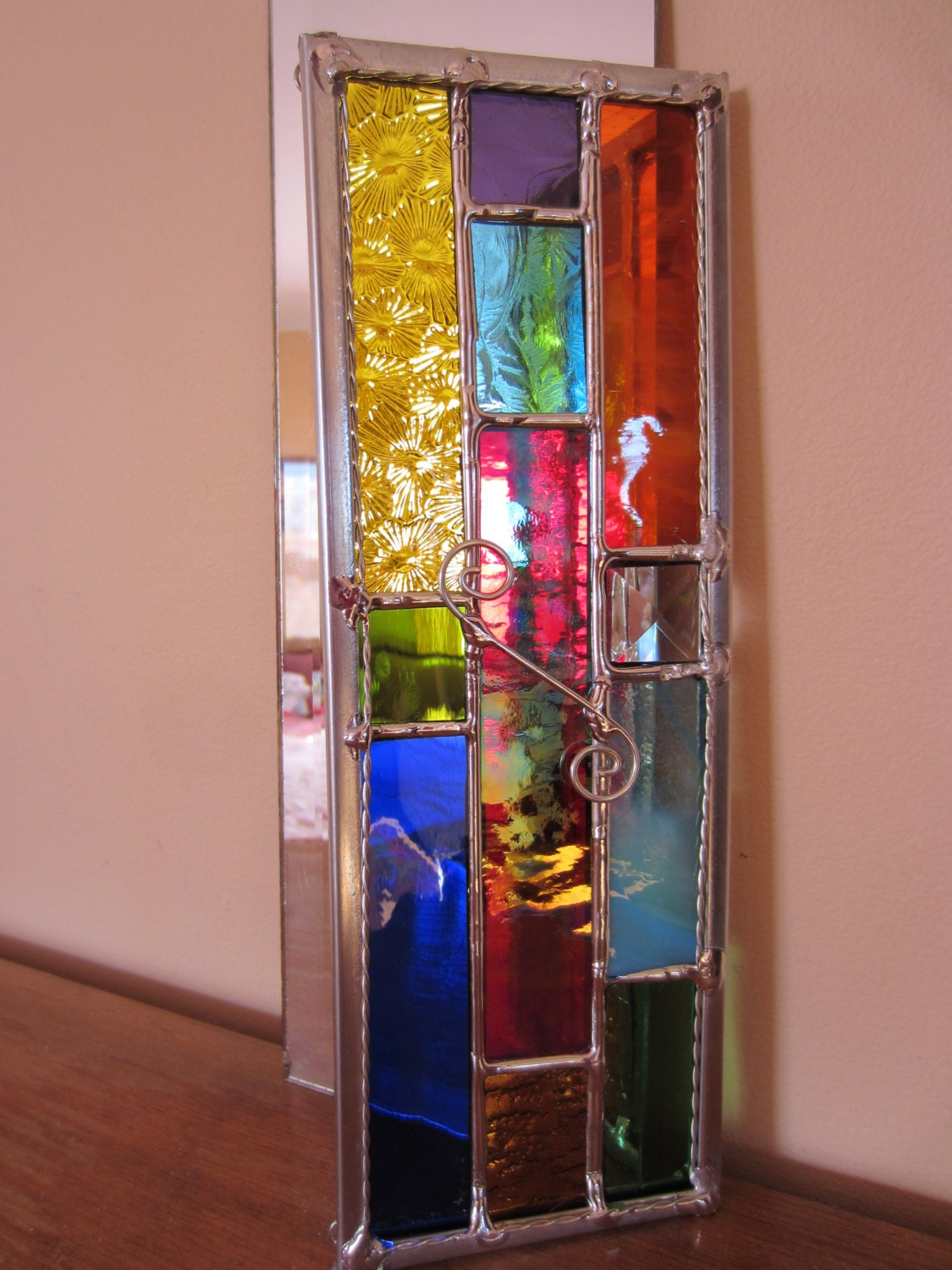 Jewel tones rainbow colors stained glass by stanfordglassshop - What are jewel tones ...
