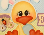 """Child Boy Girl Easter Border for Scrapbook Pages w/paper piecing """"Easter Egg-Citement"""""""