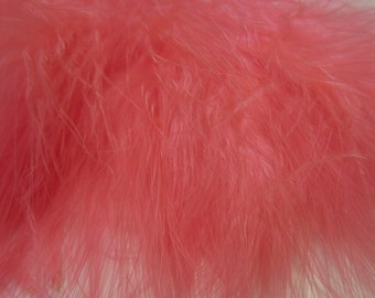 Shrimp Pink Marabou Feathers MRD-29 Craft feathers