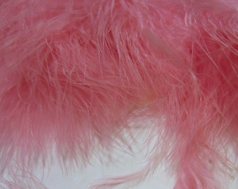Pale pink Marabou Feathers MRD-48 craft feathers wispy Craft feathers boutonnieres fly tying crafts