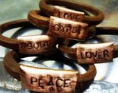 Rustic and Simple Copper and Leather Bracelet