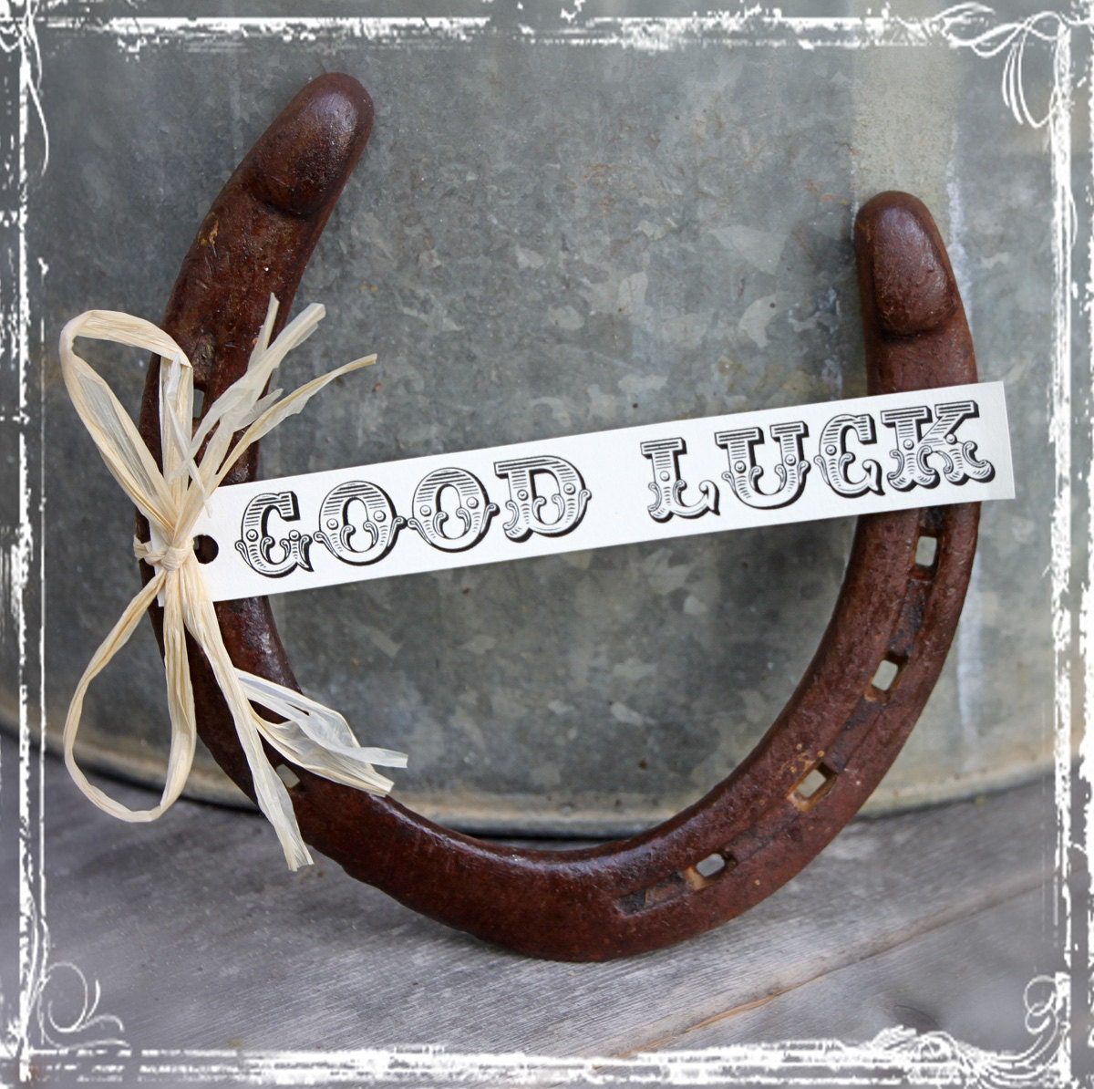 Horseshoe Wedding Gift: Good Luck Horseshoe Wedding Gift Decor For By Sparkleandposy