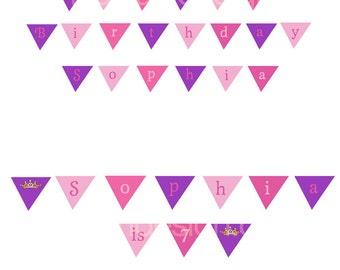 Sophia Princess Cake Banner - Printable