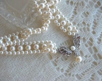 Swarovski White Pearl Choker Necklace