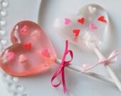 Valentine Heart Lollipops 1/2 dozen - sweetniks