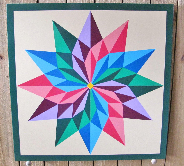 Barn Quilt Pinwheel pattern 24x24