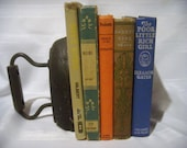 Vintage Books for Girls, Vintage Book Set, Home Decor, Photo or Stage Props, Wedding Table Setting