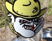 Marine Bulldog painted beer mug