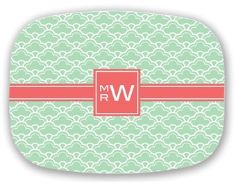 Personalized Platter - Monogram Serving Tray - Wedding Gift - Monogrammed Engagement gift - Mother of Groom gift - Choose Colors