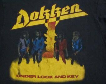 Original DOKKEN vintage 1985 tour T SHIRT