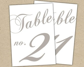 Items similar to table numbers template rustic design diy for Table numbers for wedding reception templates