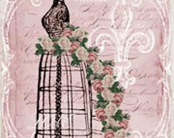 Digital Download, Valentine Gift Tag, Marie Antoinette Gift Tags, Paris Vintage, Original Design Tags, Digital Download, You Print Tags, ECS