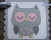 SWEET DREAMS OWL Custom Name Banner Birthday Baby Shower Made to Order