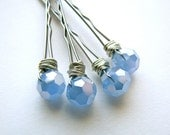 Sky Blue Wire Wrapped Bobby Pins
