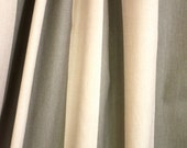 Designer Fabric / Duralee Morris's Stripe Print / Sold by the Yard / Khaki Green & Tan / c1990s
