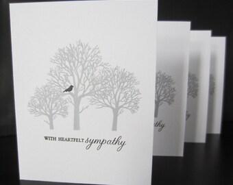 Sympathy Cards (set of 8) - Hand Stamped