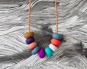 violet handmade bead necklace