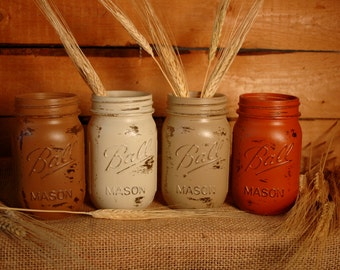 Sugar 'n Spice painted mason jars collection