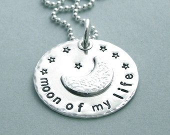 Game of Thrones Jewelry - Moon of My Life - Hand Stamped Sterling Silver Necklace - Game of Thrones Inspired