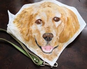 Golden retriever lovers.. your pup needs this scarf.  Handpainted with acrylics this scarf looks great around the neck of your pup.