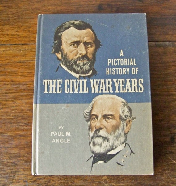 Vintage Civil War Book Ancient History War By CynthiasAttic