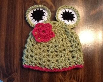 Miss Kermit Baby Hat