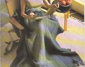 Knitting Pattern - Knitted Blanket, Afghan PDF Pattern - 3012-132 - Instant Download