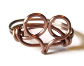 Heart Jewelry - Custom Size Heart Ring in Antique Copper Promise Ring
