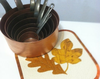Quilted Trivet-Autumn Leaves Quiltsy Handmade