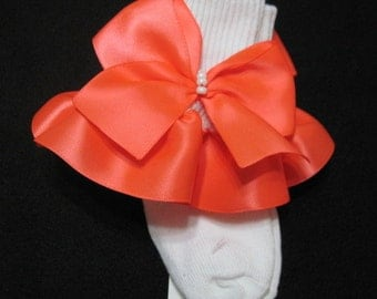 Infant, Toddler and Little Girl Satin Ruffled Socks, Perfect for Weddings, Flower Girl or Just Everyday Wear.
