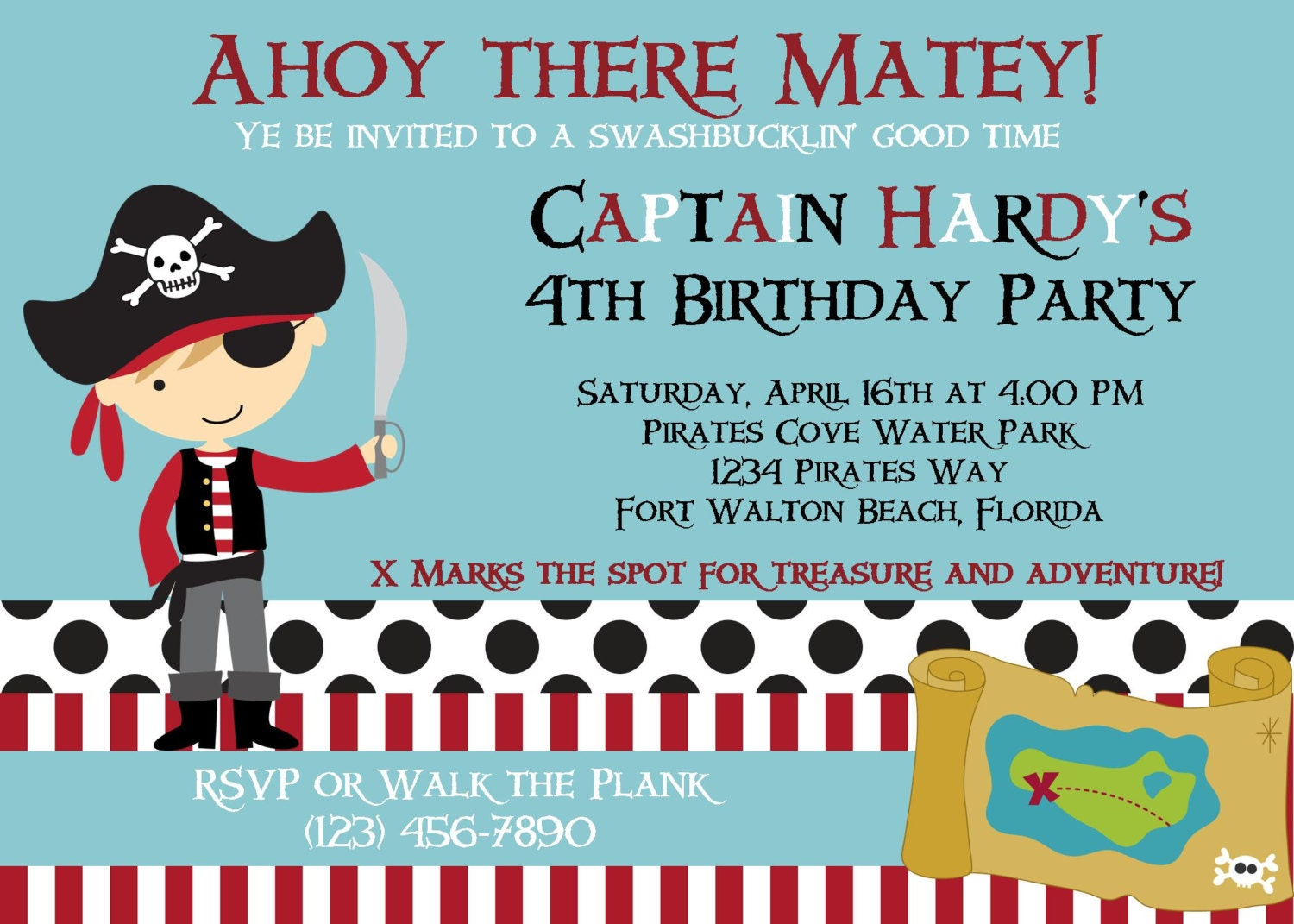 pirate invitation x birthday party boy printable, party invitations