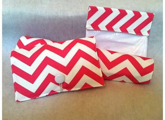 Baby Gift Set-----Diaper  Clutch and First Aid Bag  and Changing Pad---Chevron---Zig Zag You choose the colors