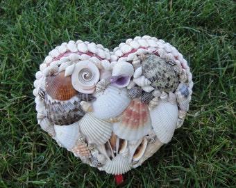 Wedding Ring Holder  Sea Shell Box     Valentine Gift   Valentines Day  Sea Shells    Heart Box     Free Shipping  Jewelry Box