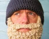 Crochet PATTERN Beard Hat PATTERN Beanie Santa Claus- Photo Tutorial in PDF- p127