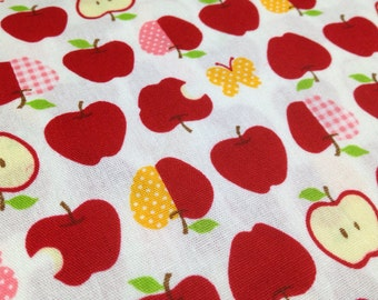 APPLE  printed One yard Japanese fabric