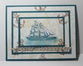 Ship note card - triple layer design