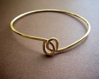 Brass Knot Twist Bangle