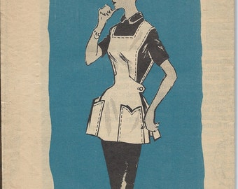 1950s Mail Order Pattern N0 4853 of a Cobbler Apron with Pockets  Size Medium