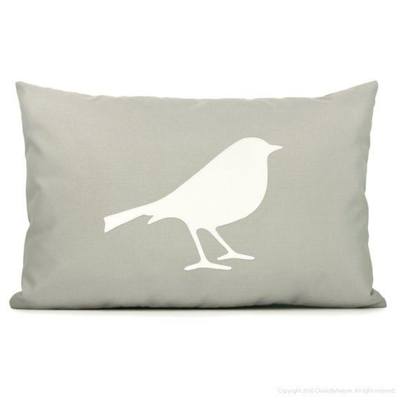Modern Outdoor Pillow : Items similar to Modern outdoor pillow cover, Garden decor, Summer decoration, Off white & grey ...