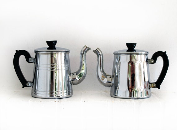 Circa 1930 French Vintage Coffee Pot Or Teapot In In Copper