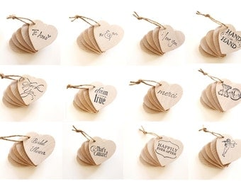 50 Wooden Heart Tags . Rustic Wedding Favors . Tags wood hearts . rustic wedding decor . rustic party favors