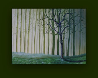 Forest Mist - Original Painting on Stretched Canvas 18 x 24