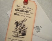 Alice in Wonderland Personalized Bookmarks with Envelopes ... Invitations to special events...