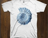 Blue Ammonite men & ladies t-shirt (tss006)