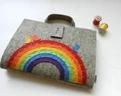 Brush-pen Artist Tote with rainbow