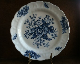Vintage English Blue and White Plate Dinner circa 1920-30's / English Shop