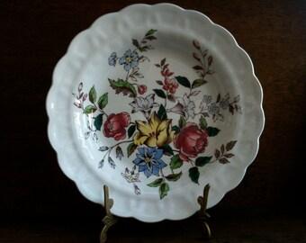 Vintage English Deep Flower Side Lunch Sandwich Plate circa 1930-40's / English Shop
