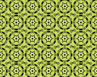 1 yard Costume Clubhouse Web Green by Sheri Berry Designs for Riley Blake