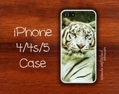 iPhone 4, 4s, 5 Case - White Bengal Tiger
